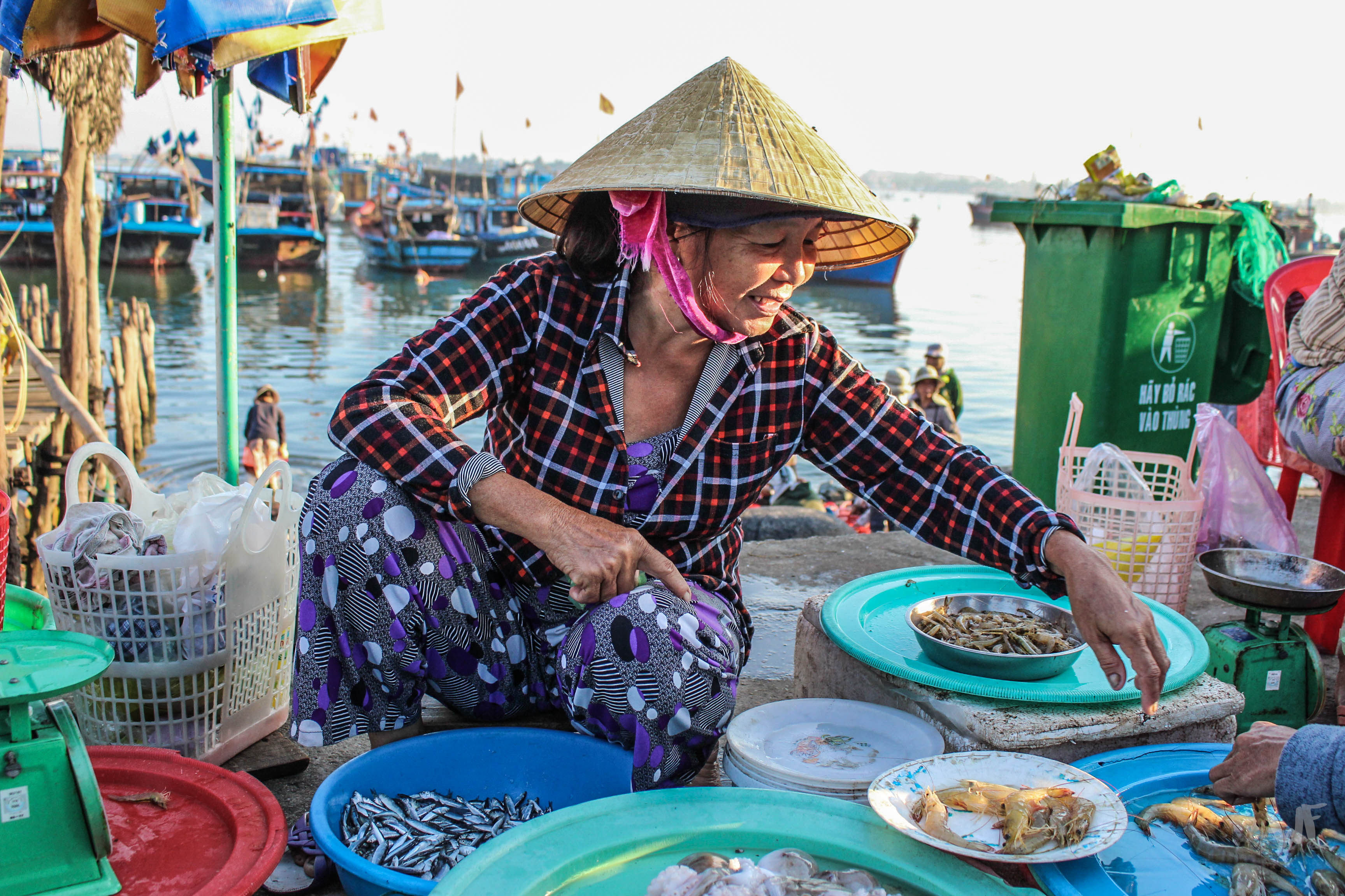 Sunrise at the Fish Market in Hoi An