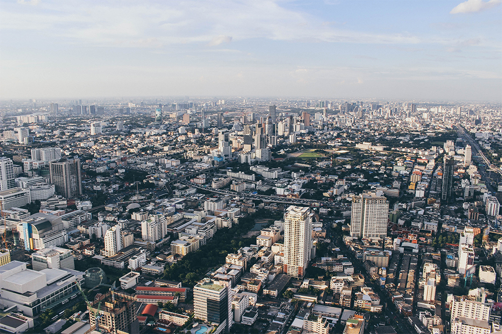 An epic view of Bangkok from the rotating sky observatory at the Baiyoke Sky Hotel